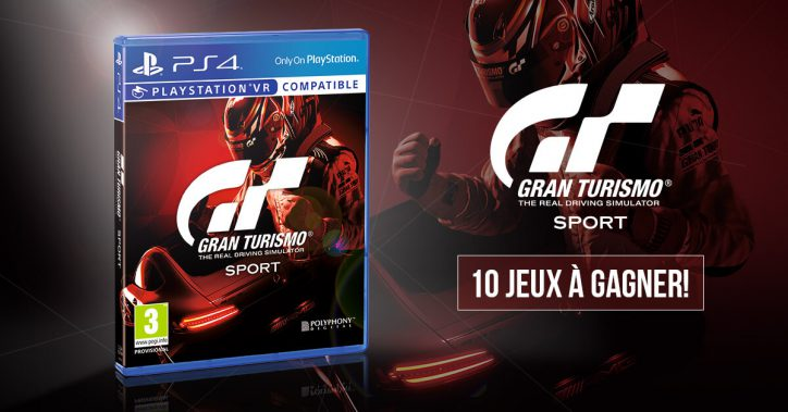 concours 10 jeux gran turismo sport gagner impericon magazine fr. Black Bedroom Furniture Sets. Home Design Ideas