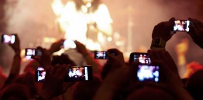 Smartphones bei Konzerten