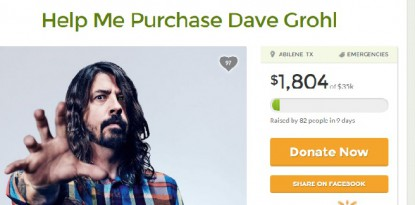 Foo Fighters Dave Grohl Gofundme