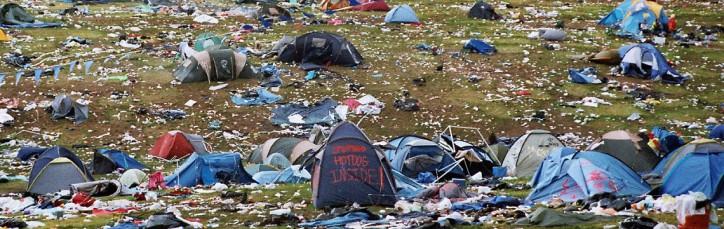 Festival Verschmutzung