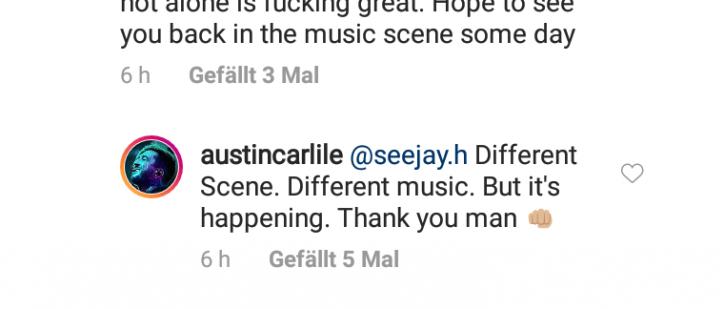 Austin Carlile neue Musik