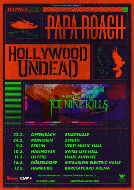 Papa Roach Gewinnspiel Tour