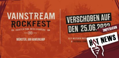 Vainstream-Festival verschoben