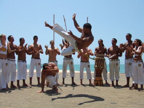 Capoeira... We're not so sure you'd see this in a moshpit?