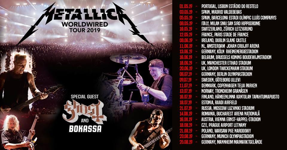 Metallica Tour 2019